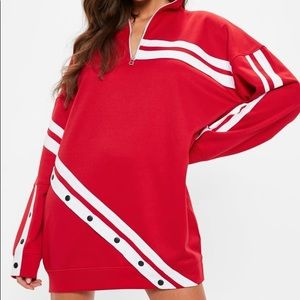 Missguided oversized red sweater dress sz UK8/US4